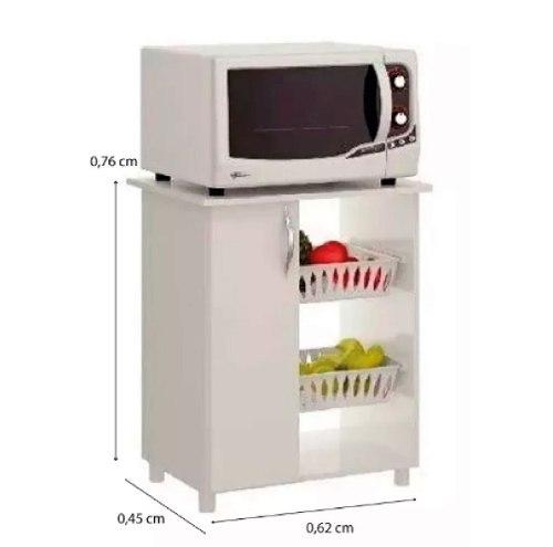 Mueble Cocina Multiuso Frutero Microondas Blanco 501 - Muebles Express