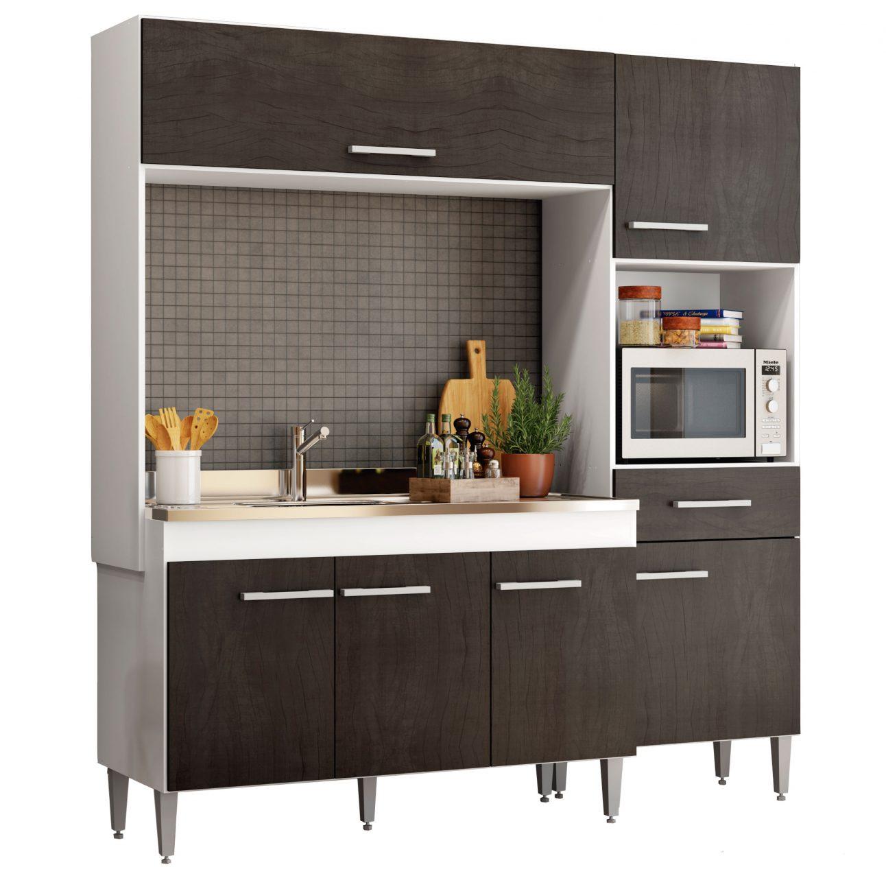 Muebles Cocina bajo mesada aereo multiuso 6 puertas 301 Pati