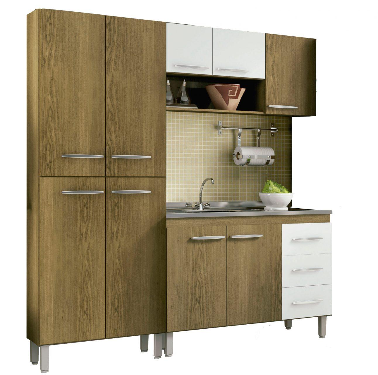 Muebles Cocina Bajo Mesada Aereo Kit Completo + Pileta 1.20